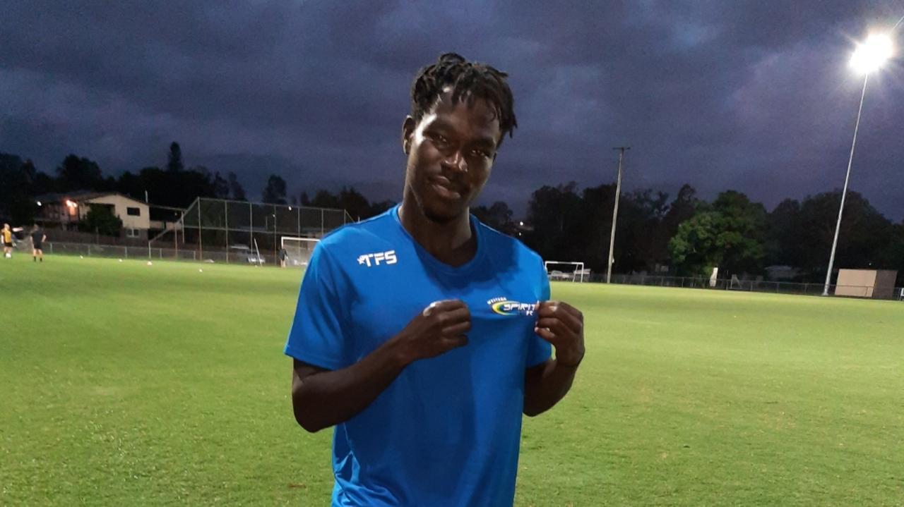 Western Spirit winger Charles Amalu has tremendous pride in his jersey. Picture: David Lems