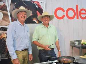 Taroom grazier catches up with Coles buyers at Beef