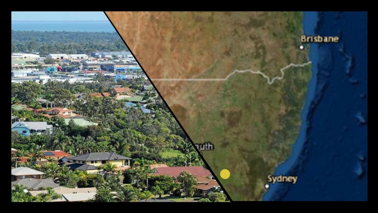 Residents across the Fraser Coast reporting feeling a shaking sensation but no earthquake (indicated by the yellow dot seen on the map) has been recorded in the area.