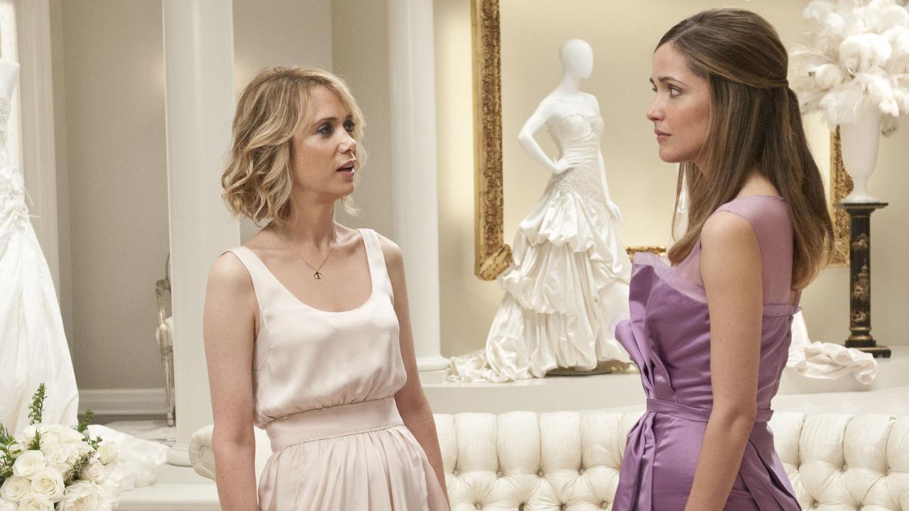 Kristen Wiig and Rose Byrne in Bridesmaids.