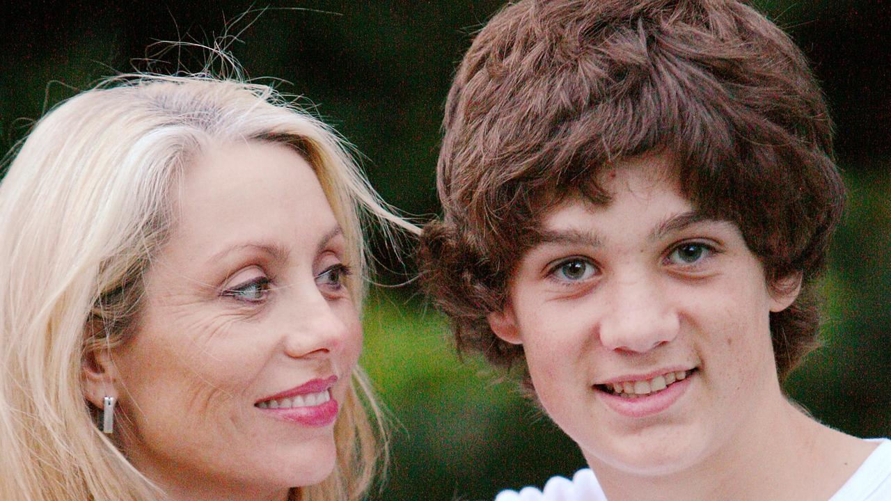 Melissa McGuinness with her son Jordan Hayes McGuinness.