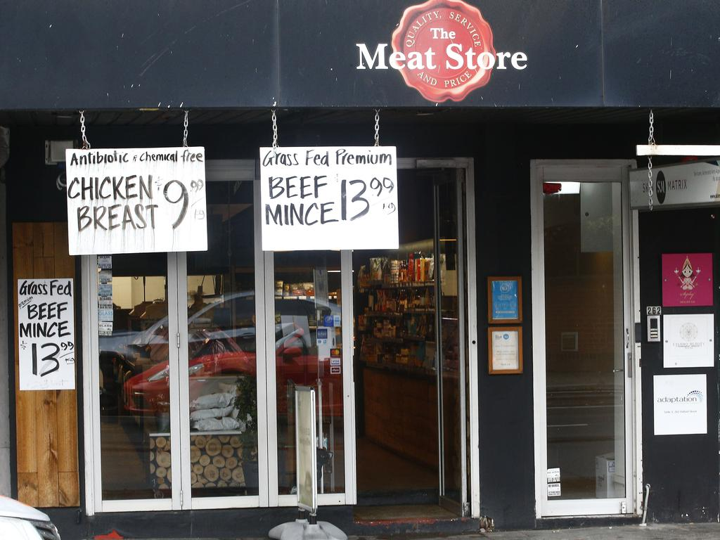 The Meat Store at 262 Oxford Street Bondi Junction. It was visited recently by a man who has tested positive to Covid-19. Picture: John Appleyard