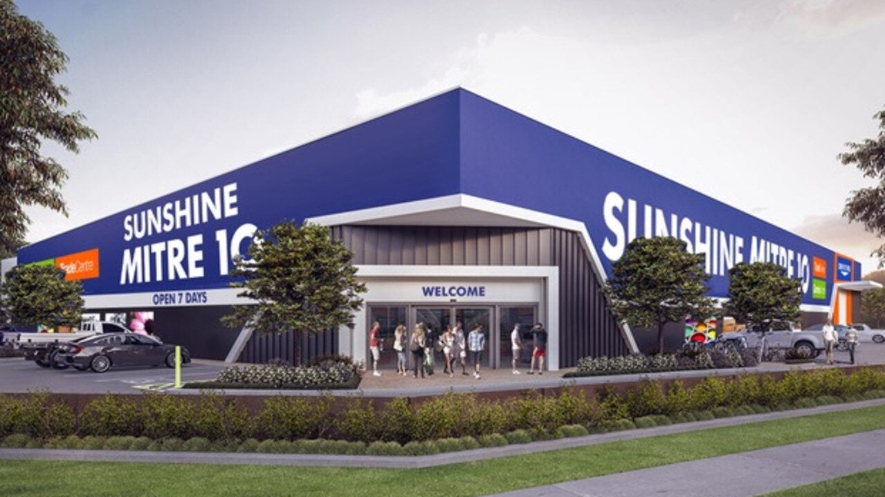 An artist's impression of the new Sunshine Mitre 10 coming to Stockland's Aura estate in Caloundra South.
