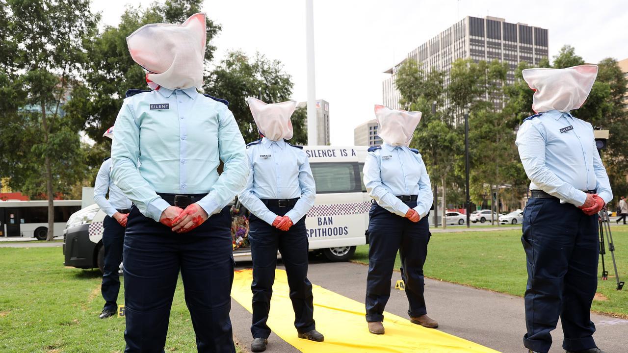 Supporters of Wayne Fella Morrison gather in Victoria Square, Adelaide. NCA NewsWire / David Mariuz