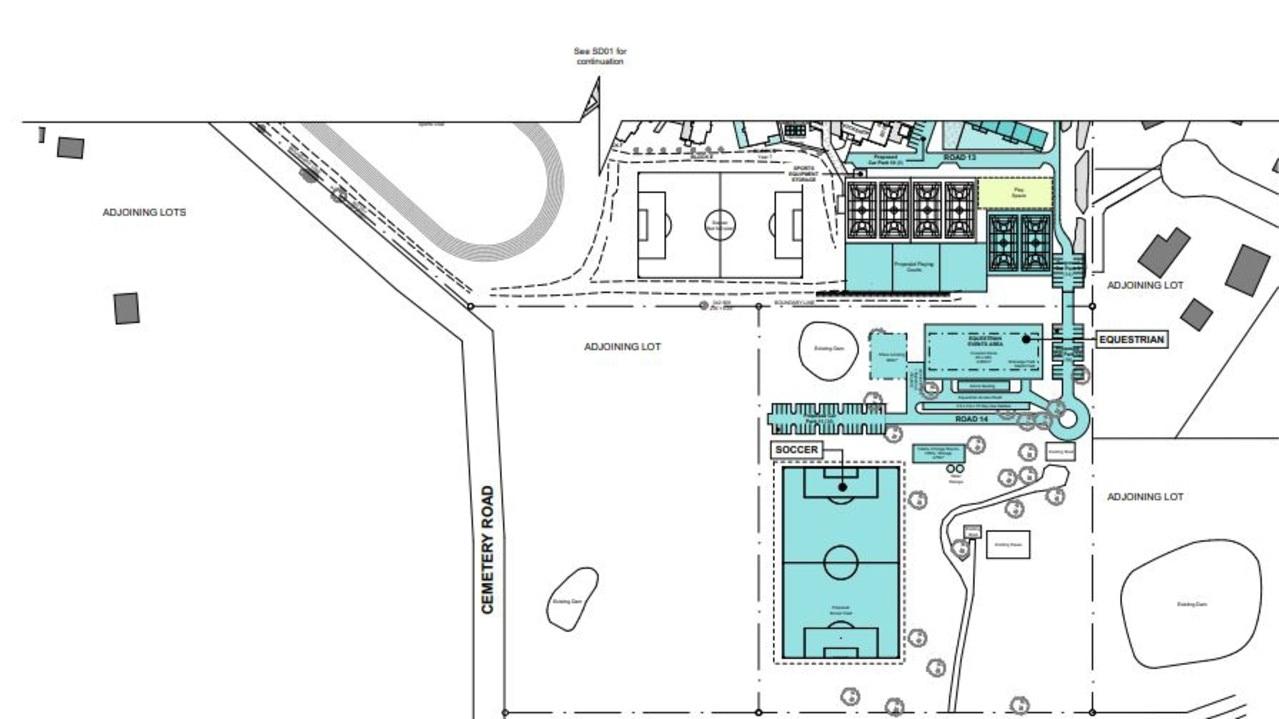 Faith's proposed sport and recreation precinct.