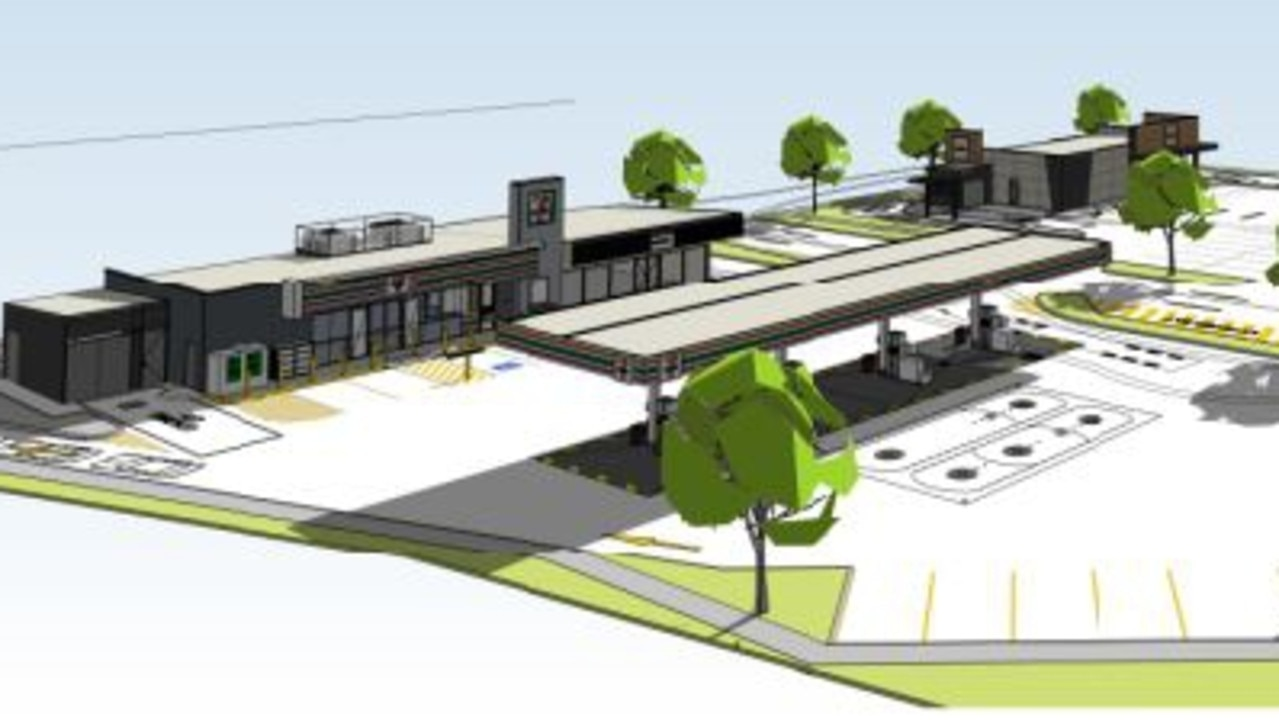 The proposed service station complex as part of stage one of development.