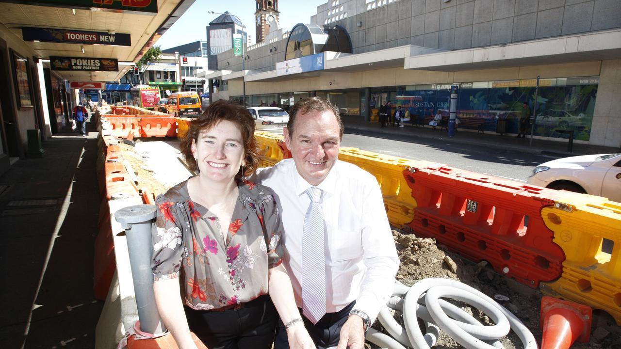 Disgraced former mayor Paul Pisasale with former Ipswich MP Rachel Nolan in 2011.