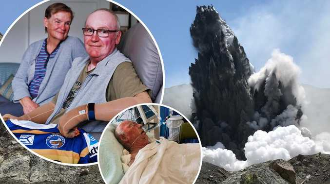 Eels superfan recounts volcano horror that claimed son's life