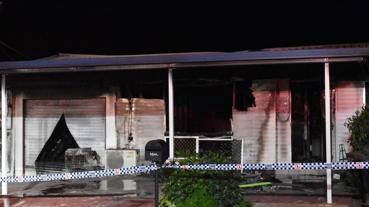 HOUSE FIRE: Multiple crews tended to a fierce blaze on Mott Street, Bundaberg.