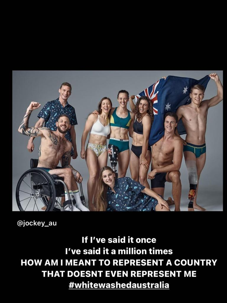 Cambage took issue with the athletes selected to represent Australia in promotional shoots.