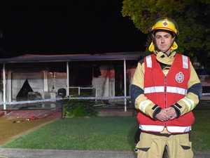 Photos, video: Fireys battle blaze that wrecks Bundaberg home