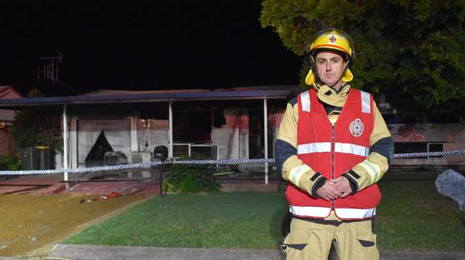 Photos, video: Fireys battle blaze that wrecks Bundaberg home