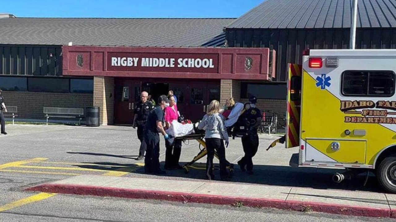 A sixth-grade girl has shot two students and a janitor at a middle school in Idaho before being disarmed by a hero teacher.
