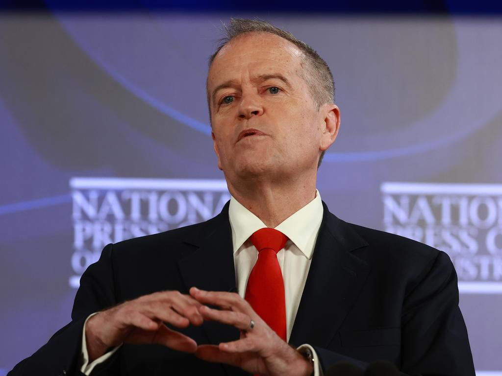 Bill Shorten has likened NDIA bureaucrats to 'Oompa-Loompas' and 'chimpanzees' in a withering attack on red tape. Picture: NCA NewsWire/Gary Ramage