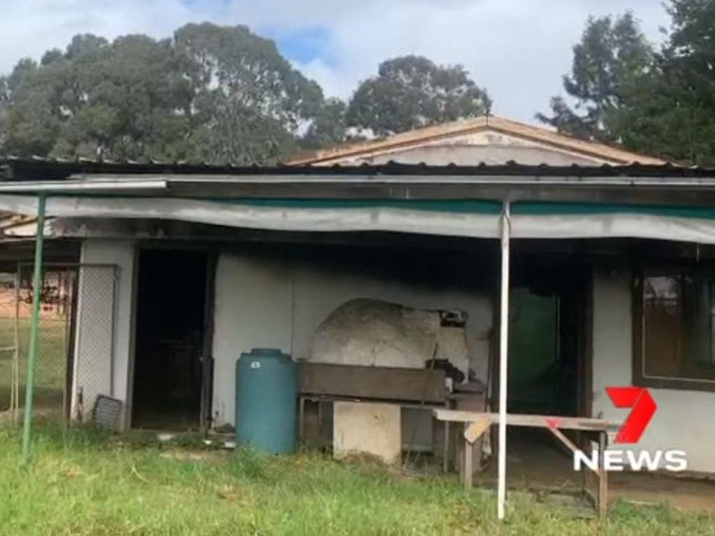 MacGill was allegedly kidnapped and taken to this dilapidated house at Bringelly. Picture: 7News