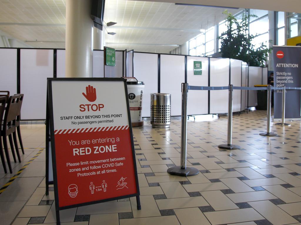 Brisbane Airport's international arrivals hall. Picture: Tertius Pickard
