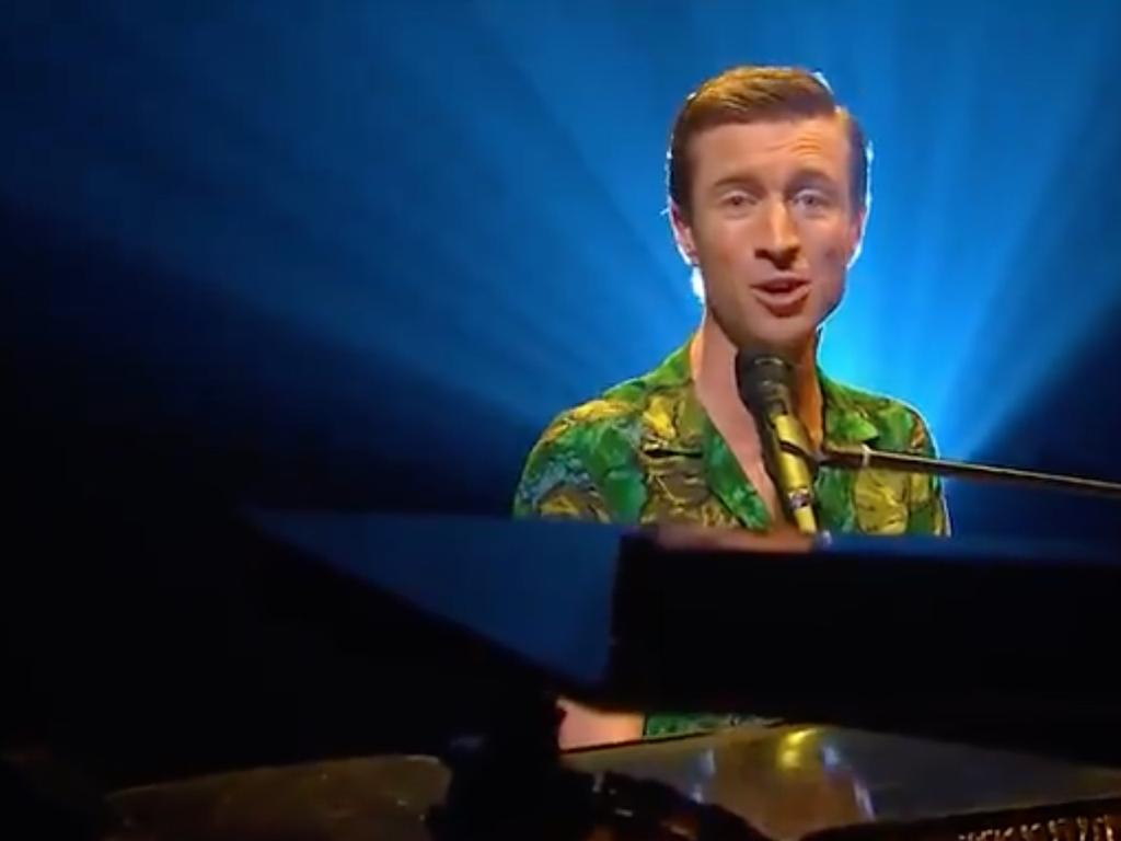 Comedian Sammy J singing 'I Can't Call Australia Home'. Picture: ABC