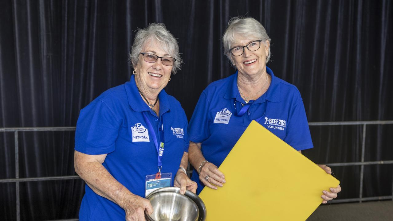 There were 150 volunteers at Beef Australia.