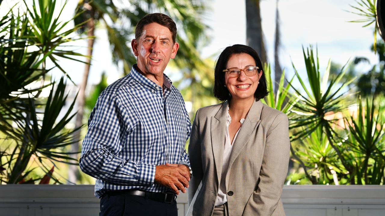 Jordan MP Charis Mullen with Queensland Treasurer Cameron Dick.