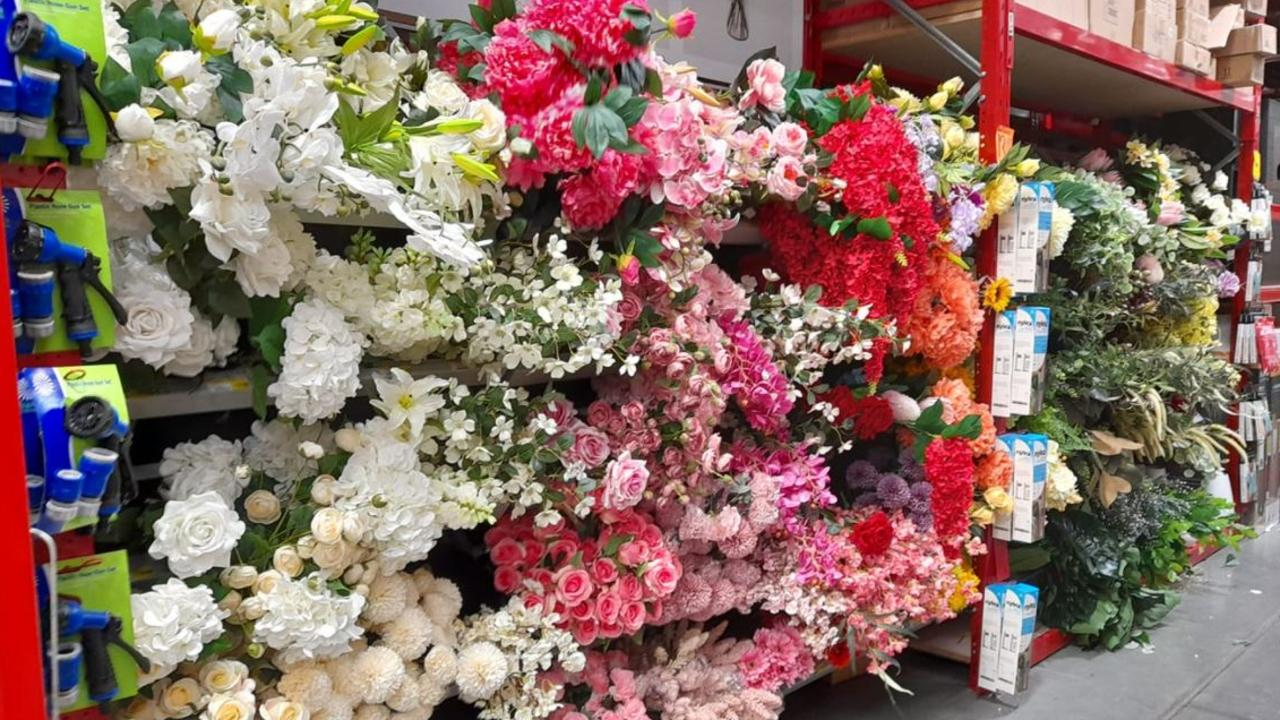Bunnings is now selling artificial flowers at 160 stores, with plans to roll them out nationally. Picture: Bunnings Mums Australia/Facebook.