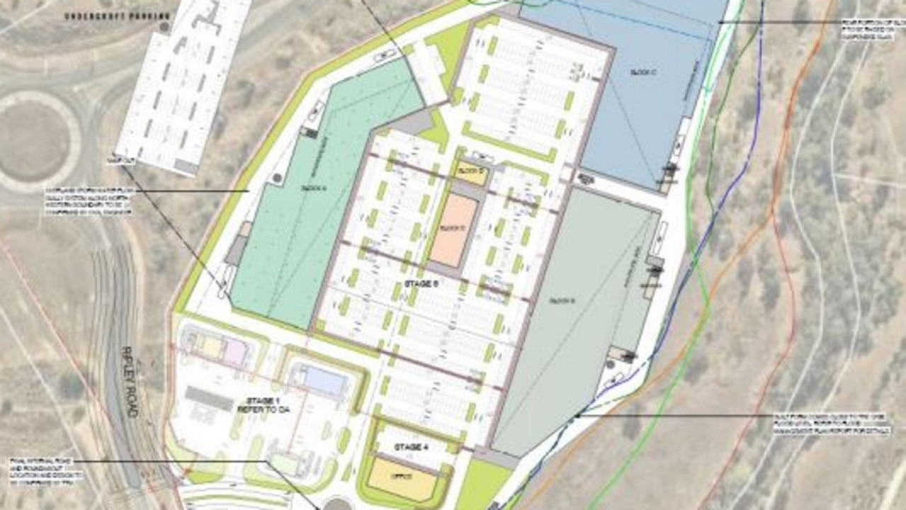 The masterplan for development of the 12.7 hectare site.