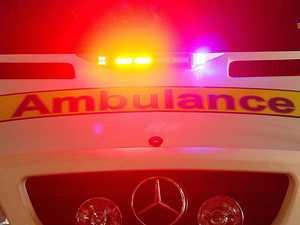 Pedestrian suffers serious head injury in car crash