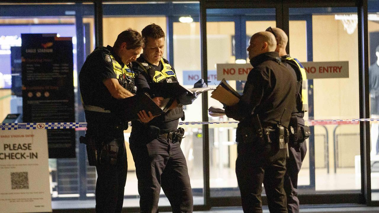 A night of junior sport turned into a scene of violence and horror after a teenager was stabbed to death at a basketball stadium.