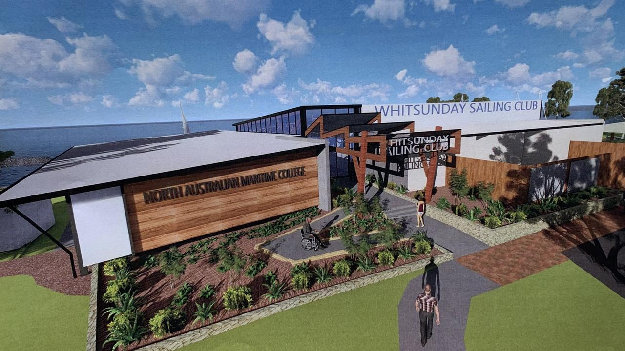 Artist's impression of what the new Maritime Training Centre might look like. Final designs are subject to council approval.