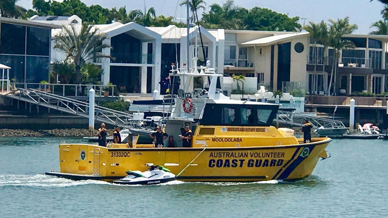Coast Guard Mooloolaba helped rescue a man after the boat he was in filled up with water off the coast.
