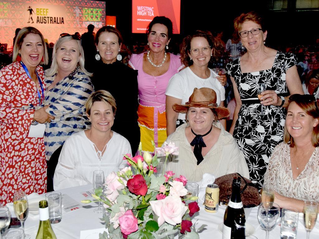 BEEF AUSTRALIA 21: Sherri Phil, Bec Harris, Heidi Smit, Sonia Morga, Hannah Hacon, Tina Briggs, Sue Patterson and Cynthia Kele at the Westpac High Tea