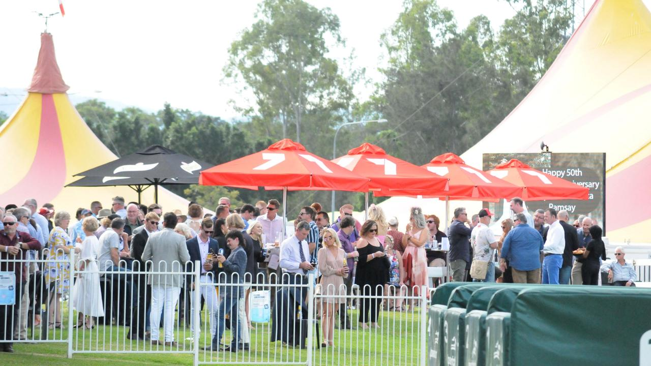 A record crowd turns out for Saturday's race meeting at the Ipswich Turf Club. Picture: Claire Power