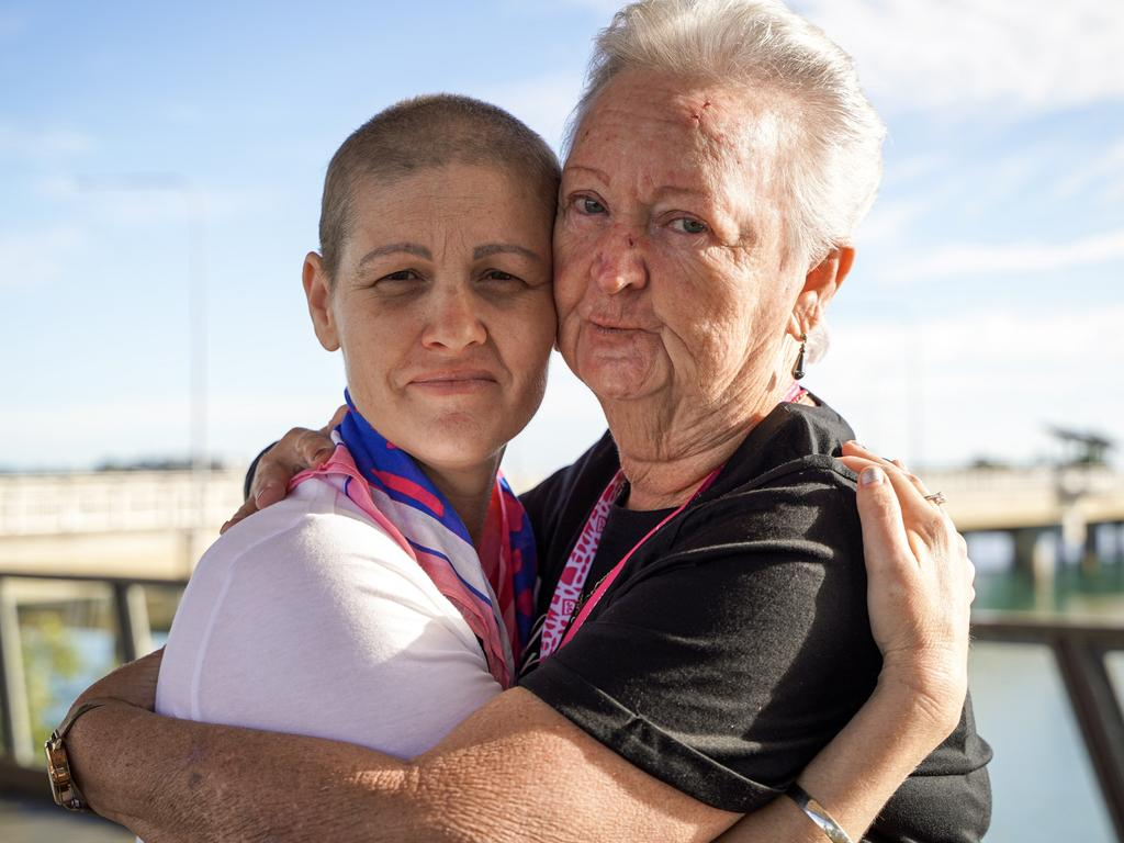 Nicola Sammut with Aunt Joyce Grech at the Mackay Mother's Day Classic fun run 2021. Heidi Petith