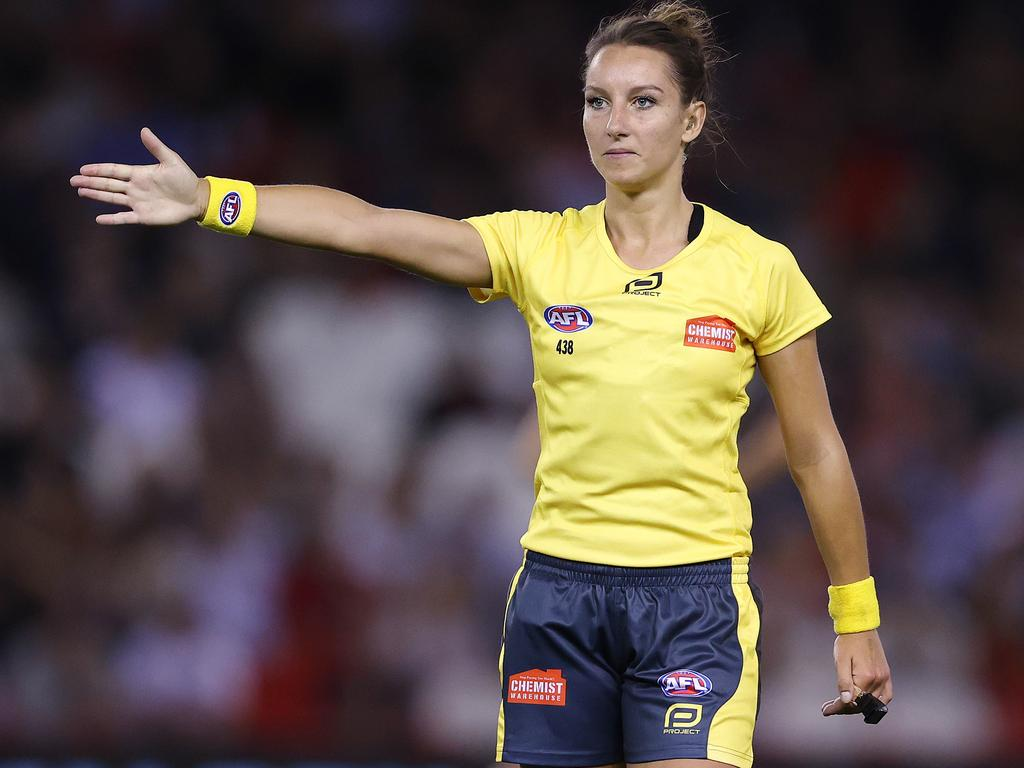 Umpire Eleni Glouftsis has made the Forbes 30 Under 20 list. Picture: Michael Klein