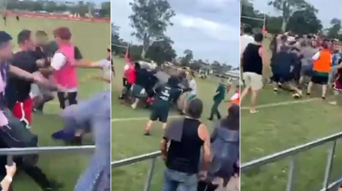 WATCH: Junior footy fight leaves dad with horrific injuries