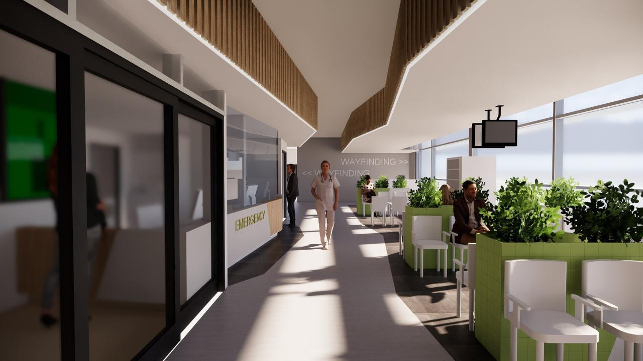 Artist's impression of the Nambour Hospital's $86 million redevelopment.