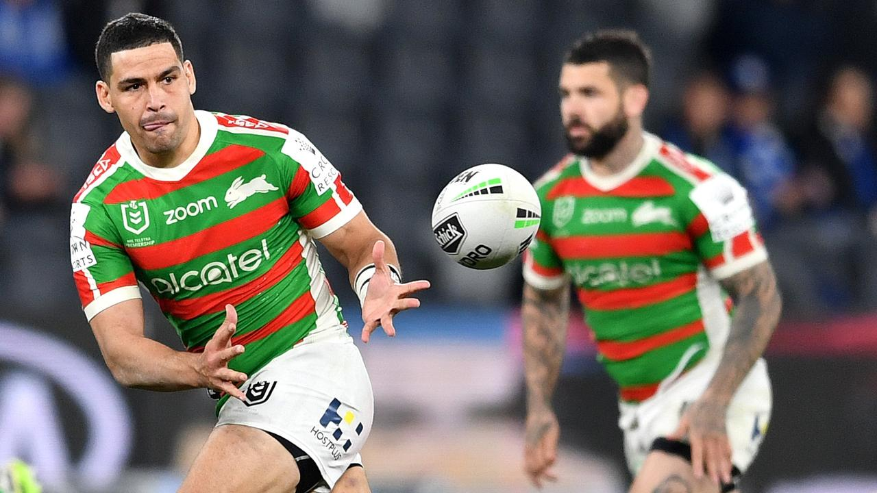Cody Walker (L) and Adam Reynolds (R) built a formidable combination at Souths. Picture: Gregg Porteous/NRL Photos