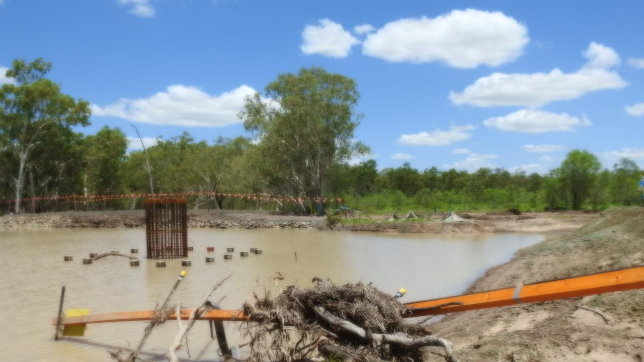 Photo of the alleged breach – Serpentine Creek. Picture: Frontline Action On Coal