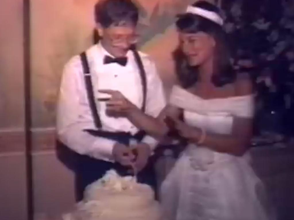 Footage from Bill and Melinda Gates wedding in 1994.