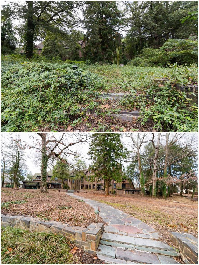 The Fuko-Rizzos worked with landscape architect Chip Callaway to remove invasive plants and sculpt the 1.6-acre grounds. Picture: Realtor / JulianPriceHouse Facebook