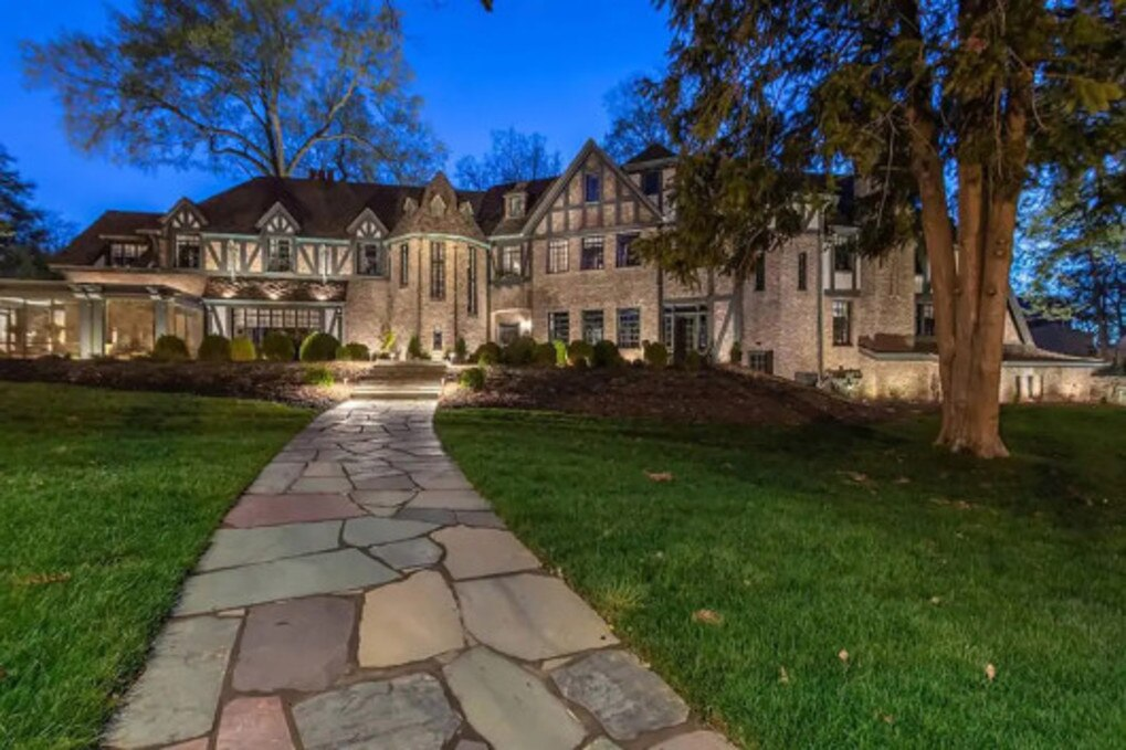 The Tudor mansion is stucco and brick with half-timbered walls. Picture: Realtor