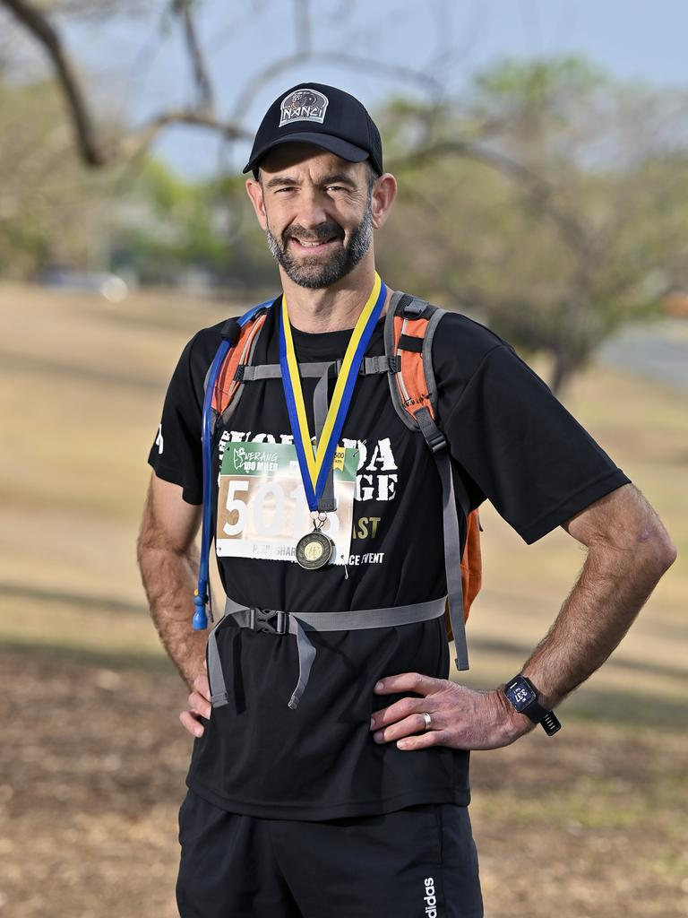 Ipswich endurance runner Paul Shard after he completed a 500km ultra trail event on the Gold Coast. Picture: Cordell Richardson