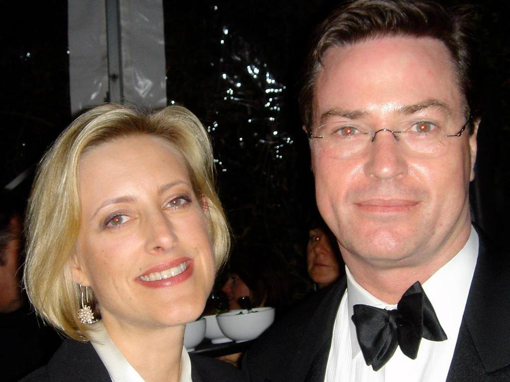 Apollo Global Management managing director Tom Pizzey and his wife Anna.