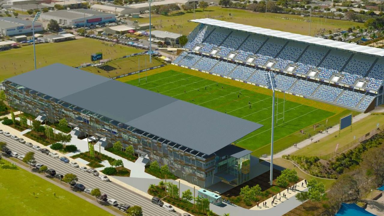 VISION: An artist's impression of an upgraded Sunshine Coast Stadium.