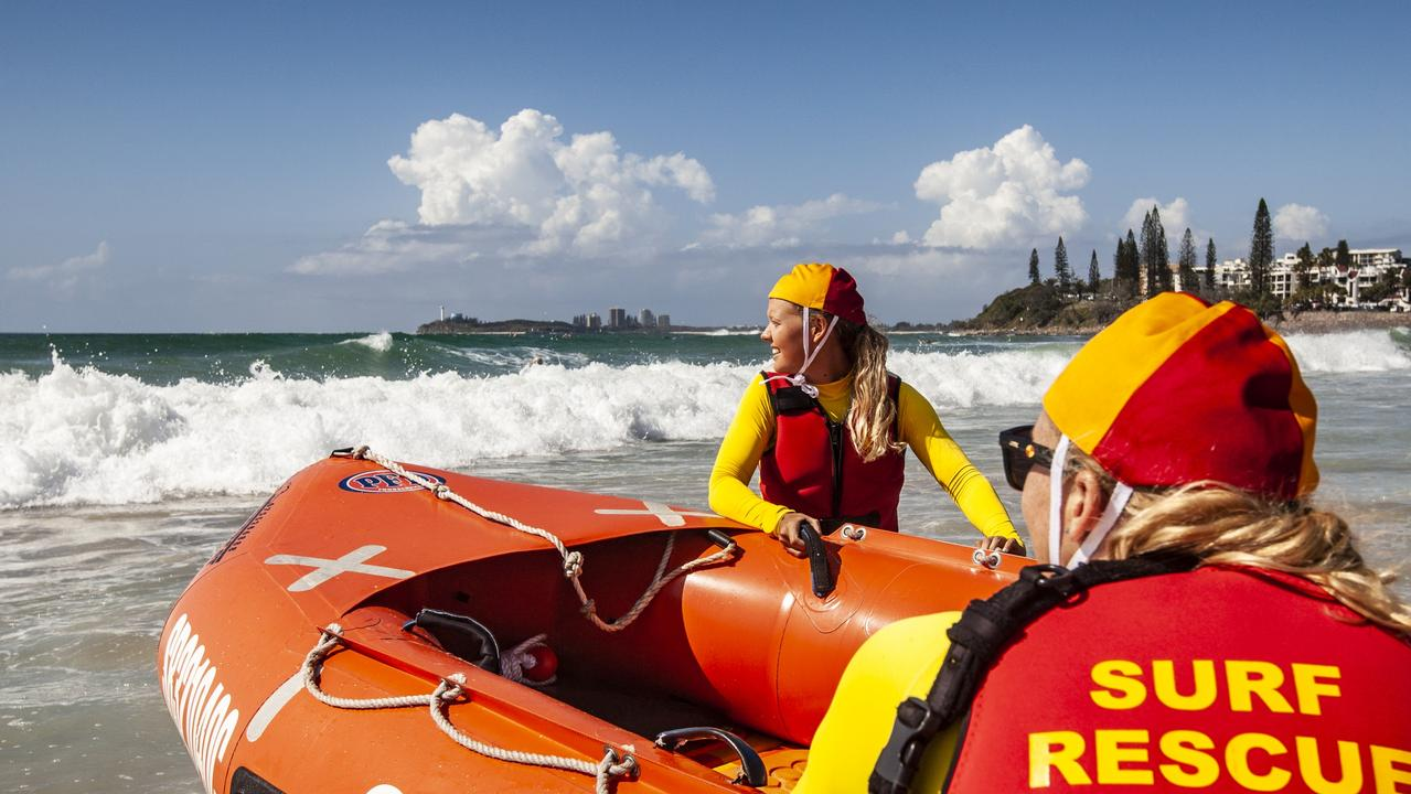 """Two people have been rescued in waters off Caloundra after they were """"ejected"""" from a boat on Monday morning."""