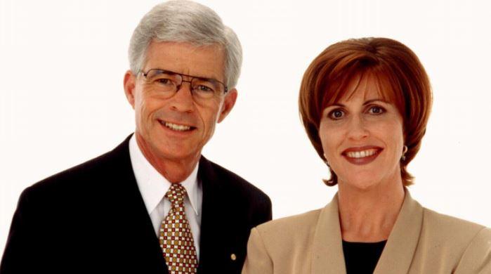 Frank Warrick with his co-presenter Kay McGrath.