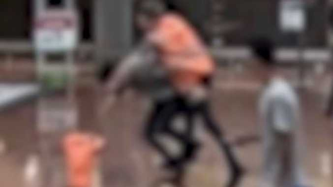 WATCH: Shocking moment teen coward punches Woolies worker