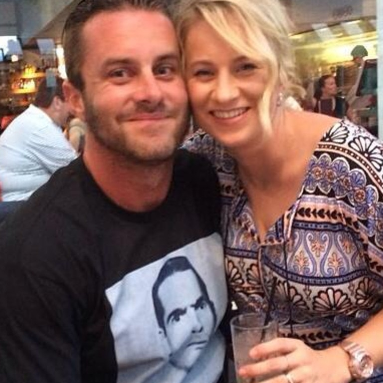 Brisbane father Josh Jones with Laurice. Mr Jones was left with serious facial injuries.