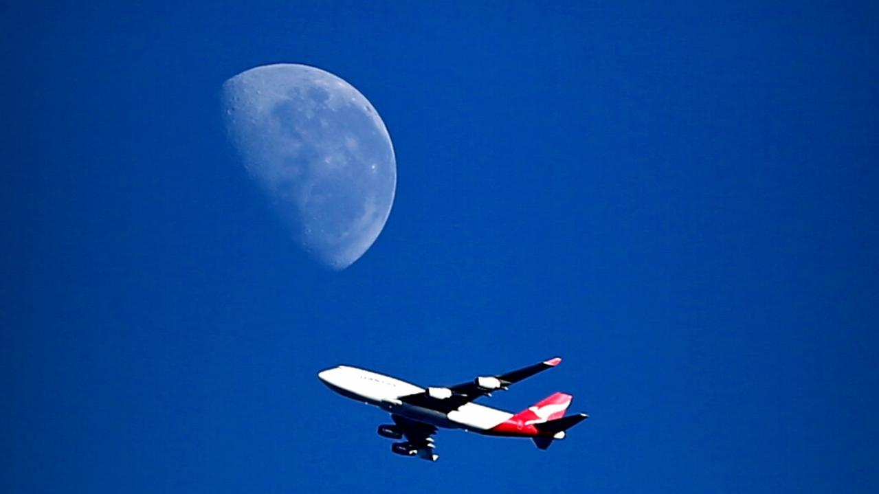 Qantas has unveiled a special moon viewing as its latest flight experience to excite Australians. Picture: John Grainger