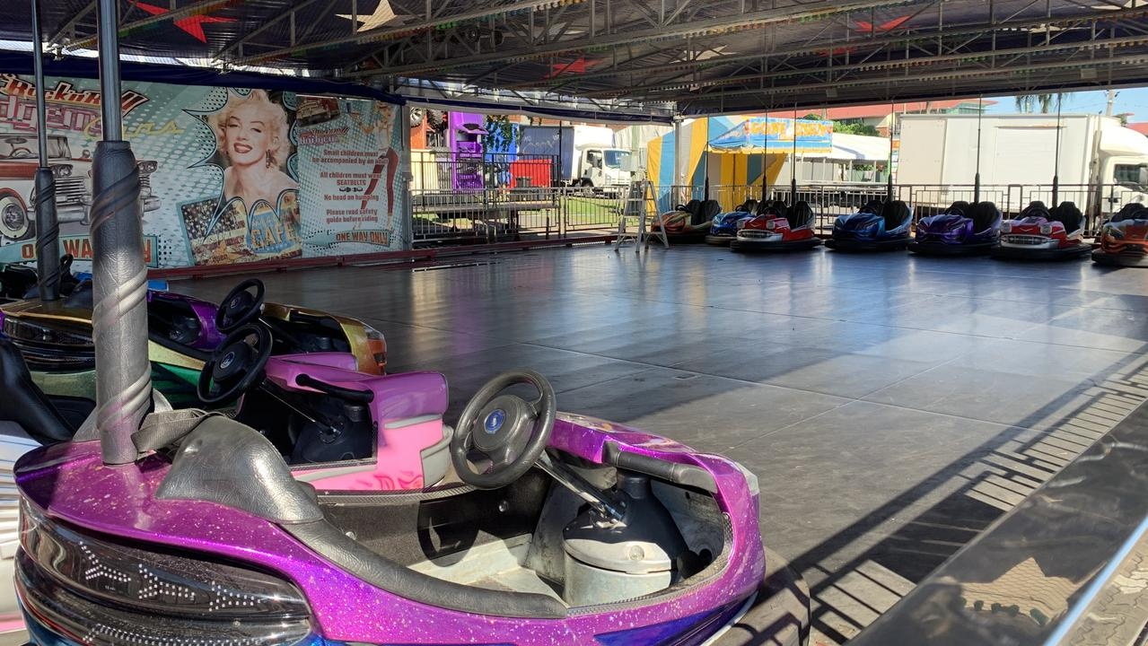 The popular dodgem cars will likely draw crowds come Friday.