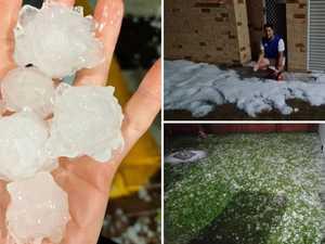 Hail chaos: Monster thunderstorms, heavy rain smashes Coast